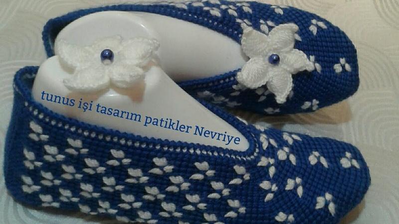 Yeni Tunus işi tasarımım Gece Mavisi patiğim