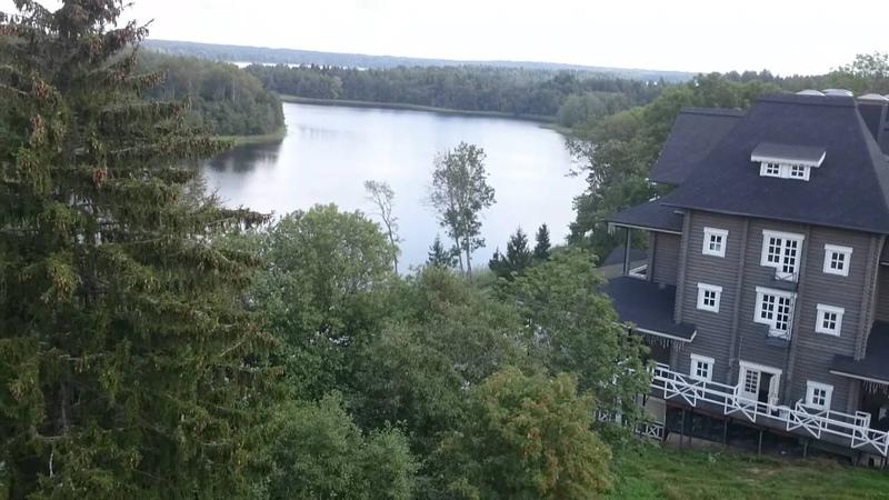Эко парк Времена года на озере Наговье в Тверской области Вид со смотровой башни 24 08 2016