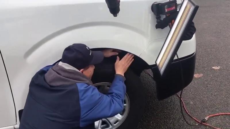 PDR takes on Nissan NV2500 Bodyline Dent! Nissan PDR PaintlessDentRepair vanlife