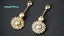 【ビーズステッチ】シードビーズとパールで作る幾何学的なピアス☆作り方 How to make:Geometric Earrings with seed beads.Original stitch