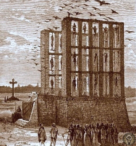 В 13 веке недалеко от Парижа была построена гигантская виселица Монфокон, до наших дней не сохранившаяся