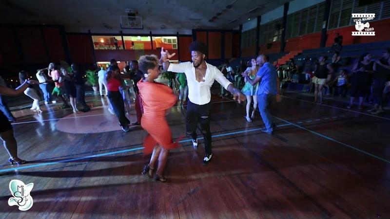 Terry SalAlianza Cécile Ovide social dancing @ Martinique Int l Salsa Festival 2019