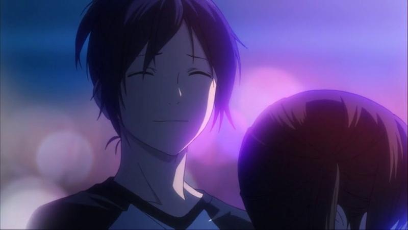 Самый романтичный момент из аниме Noragami Ято и Хиёри