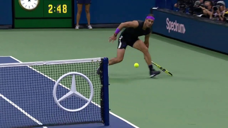 Rafael Nadal Goes AROUND the Net Against Marin Cilic US Open 2019 Hot Shot