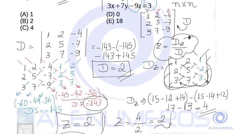 Resolução lista de sistemas lineares exercícios de 1 a 5