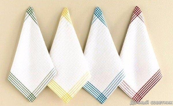 Чем отбелить кухонные полотенца