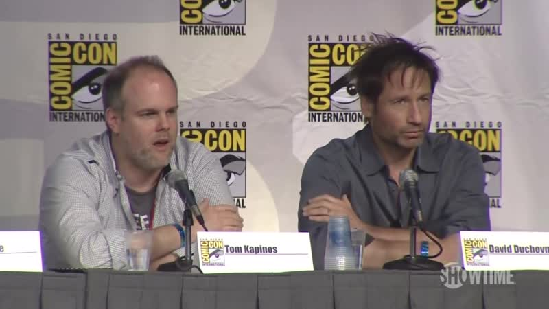Comic Con Californication on Anti Hero Panel with David Duchovny Tom Kapinos
