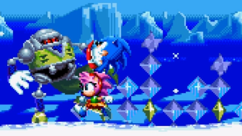 Sonic Amy in Sonic 3 Levels! :D | Sonic Mania PLUS Mods ❄ Gameplay