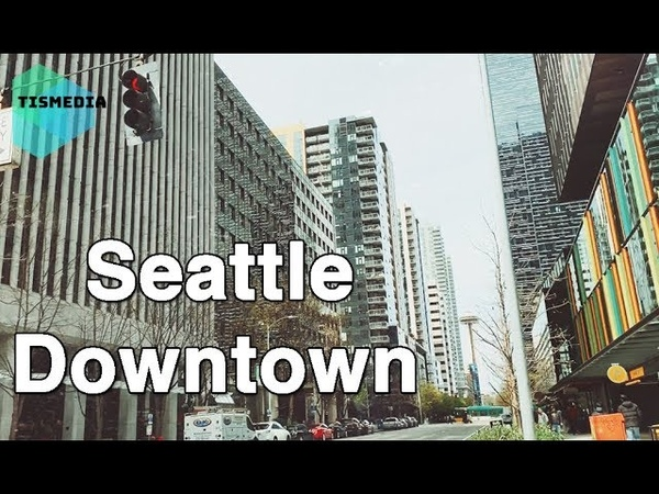 Walking around 6th Ave and Westlake Ave to 6th Ave and Wall St【4K】, Seattle Downtown, Washington