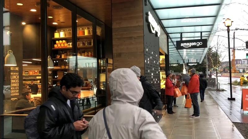 Amazon Go - магазин будущего, без продавцов и кассиров