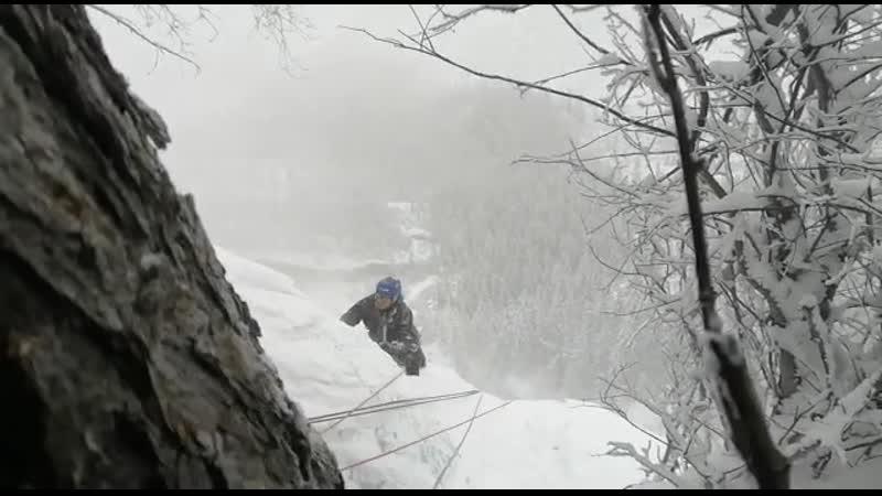 Ледолазание по замерзшему водопаду Бажа-Кая 2020.02 (01)