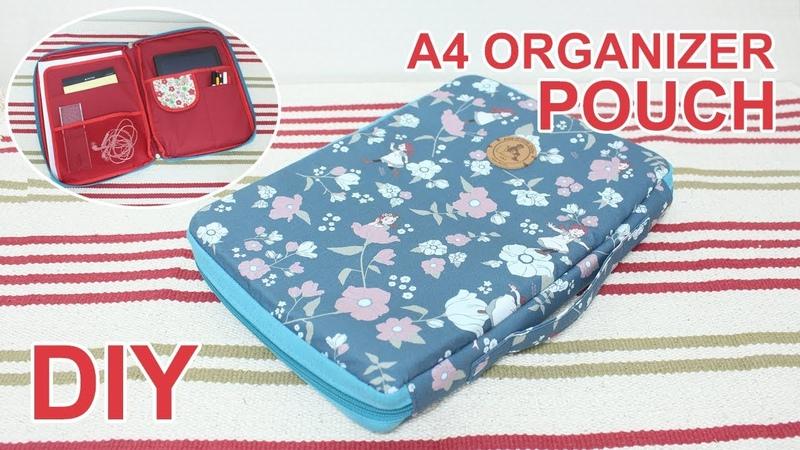 DIY Laptop bag 노트북 가방 태블릿 파우치 만들기 3면 지퍼가방 미싱배우기 소잉타임 5