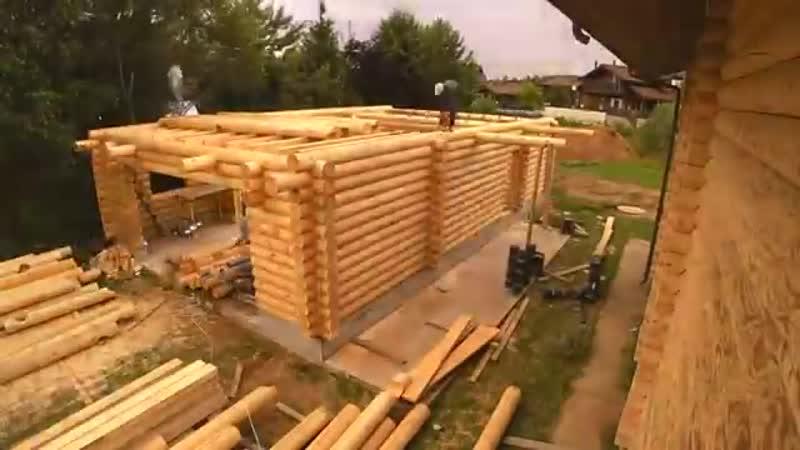 Строительство дома из сруба за 5 минут