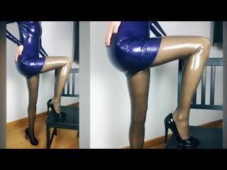 Shiny sophie - sexy latex outfit  latex girl fun