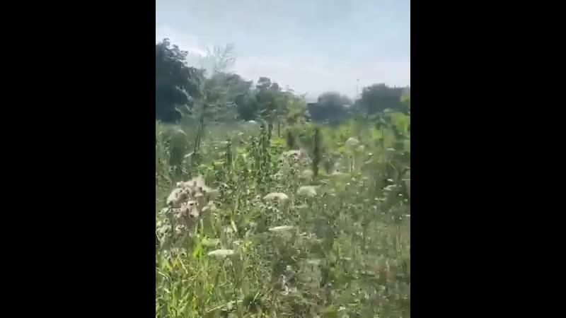 🙏➡️ на пустующей территории между улицами Октябрьская и Гаевского( район «Мельница») пожар, сильно горит трава, с двух сторон