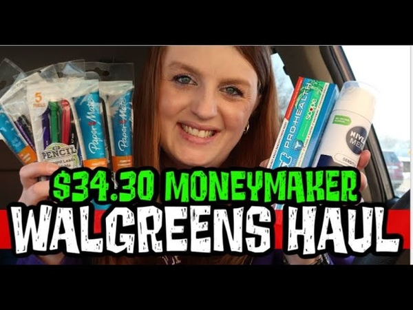 $34 30 MONEYMAKER FREE PENCILS Walgreens Haul February 23rd 29th 2020
