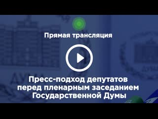 . Пресс-подход депутатов перед пленарным заседанием Государственной Думы