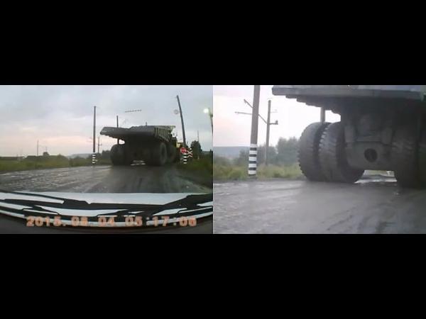 В Кузбассе у БелАЗа взорвалось колесо