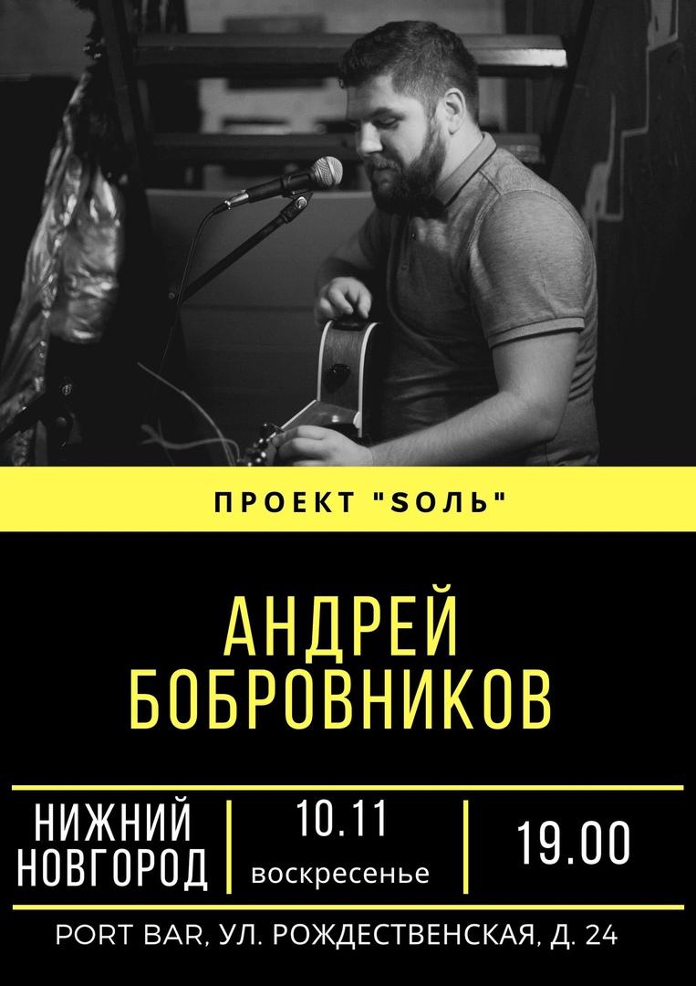 Афиша Нижний Новгород Андрей Бобровников (проект Sоль)/10.11/ Нижний