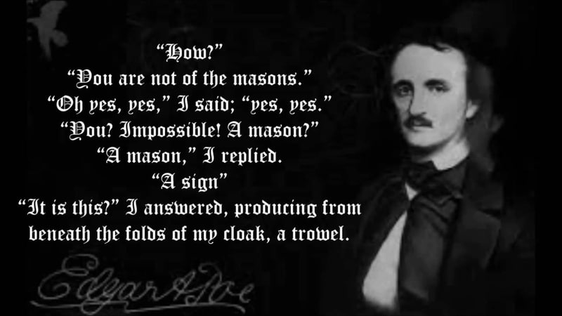 The Cask of Amontillado with subtitles Edgar Allan Poe Read by Christopher Lee