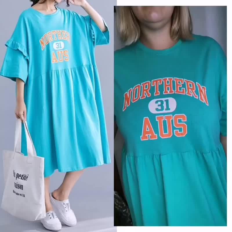 Платье-футболка свободного размера (до 58). 1790₽
