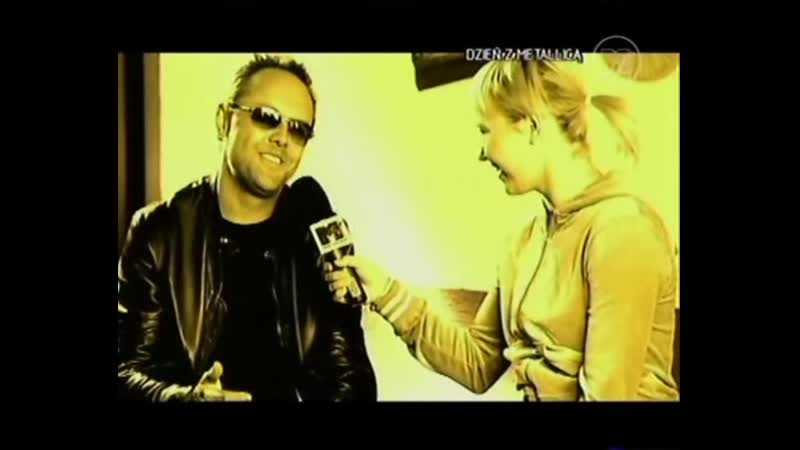 Metallica - Chorzow TV Report Lars Ulrich Interview (2004)