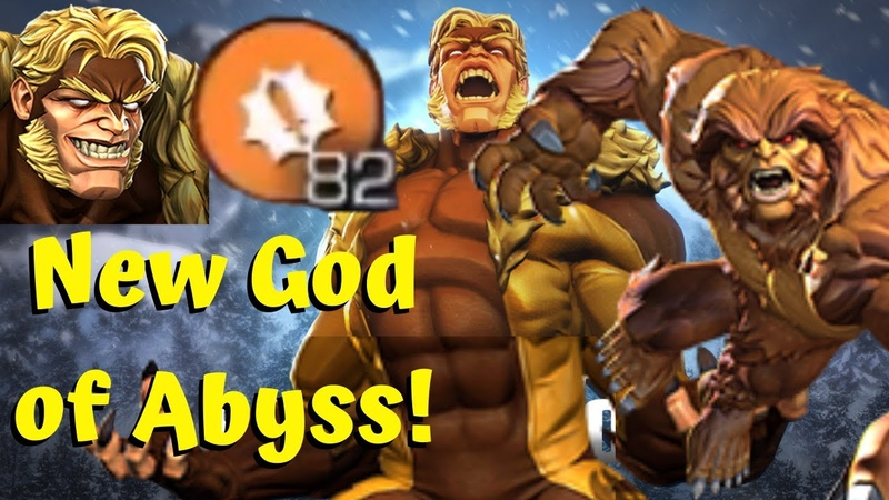 Sabretooth Mind Blowing Damage New God of Abyss Sasquatch Synergy Marvel Contest of Champions