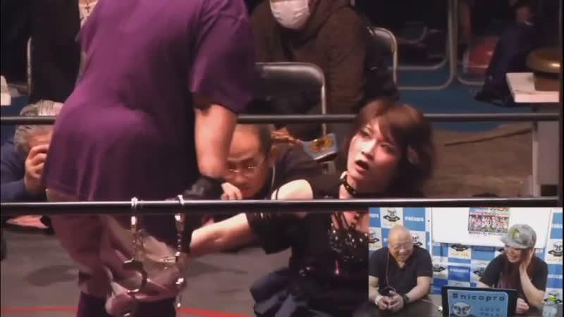 Mayumi Ozaki c Saori Anou vs Aja Kong Hiroyo Matsumoto