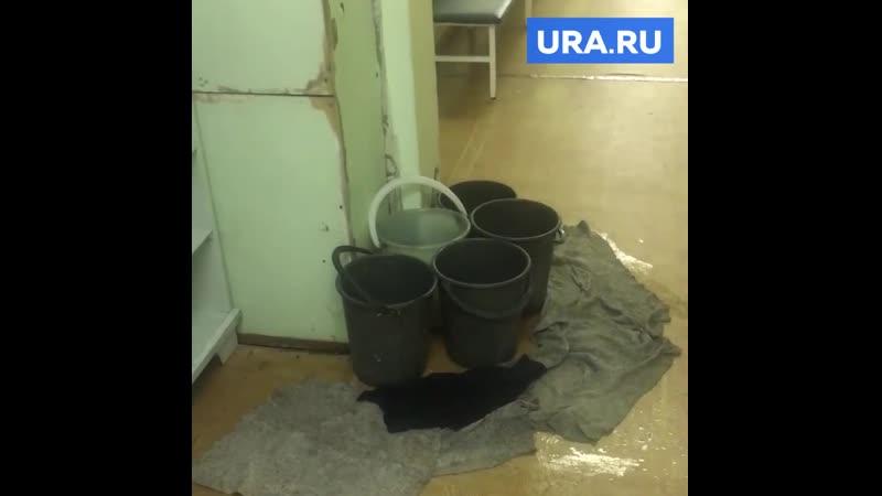 В курганской женской консультации с потолка льются нечистоты