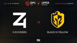 4 Zoomers vs Black N Yellow, Dota Pro Circuit 2021: S1 - NA, bo3, game 2 [eiritel & Lost]