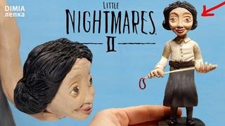УЧИТЕЛЬНИЦА из игры Маленькие кошмары 2 (Little Nightmares 2)  Лепим фигурки из пластилина