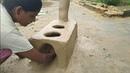 Mitti Ka chulha | village style mitti Ka chulha | primitive technology making clay oven | pakao food