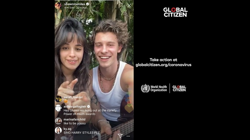 Together At Home with Shawn Mendes Camila Cabello