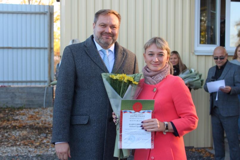 Олеся Сергеевна с главой города Дегтярск Пильниковым В.О.