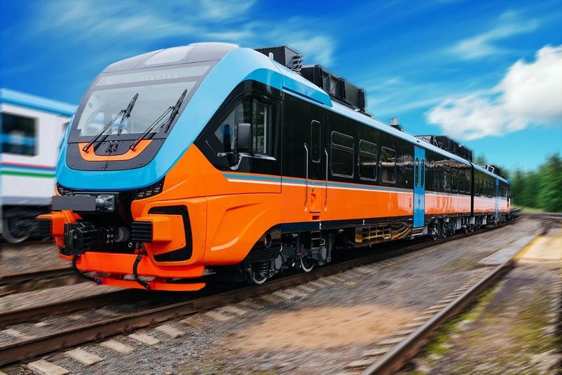 """🔥Рельсовый автобус """"Орлан"""" на 133 места запустили в Курской области."""