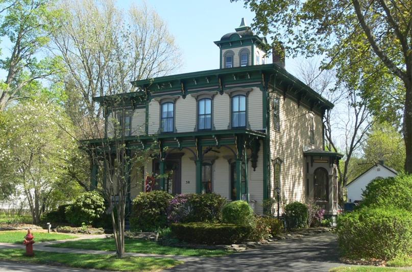 Итальянский дом Льюиса в северной части штата Нью-Йорк. Джеки Крэйвен