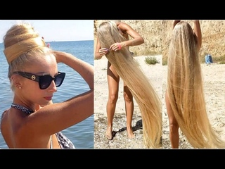 RealRapunzels - The Longest Blonde Hair at The Beach (preview). .