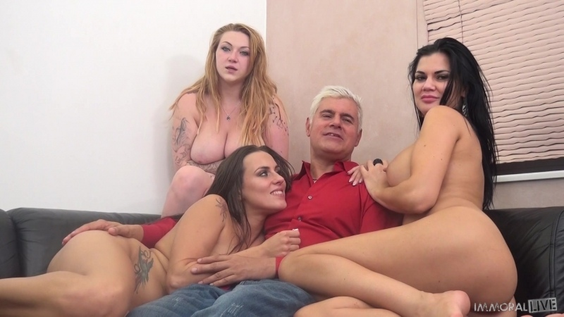 Mea Melone, Jasmine Jae and Harmony Reigns - Trifecta of Sex Goddesses For A Lucky Fan (2016)  Amateur, Hardcore, Blowjob (Doubl