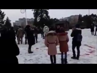 Комсомольск! другое видео несостоявшегося флешмоба 18 декабря 2016. Наш Песенный Флешмоб