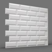 МЕТРО (кабанчики) 3D панель облицовочная Rakitta