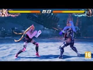 Геймплейное видео боя Lucky Chloe & Master Raven в игре Tekken 7!