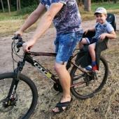 Велосипед с детским креслом + детский шлем