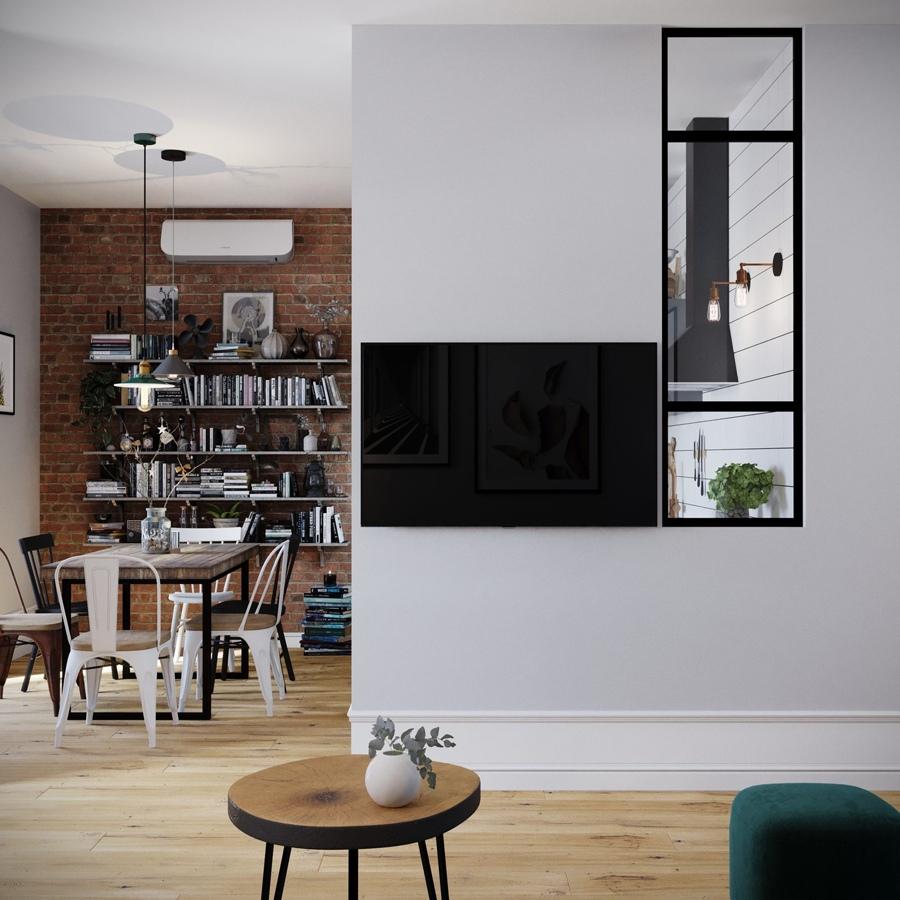 Перепланировка 1-комнатной квартиры 44 м (с лоджией - 47 м).