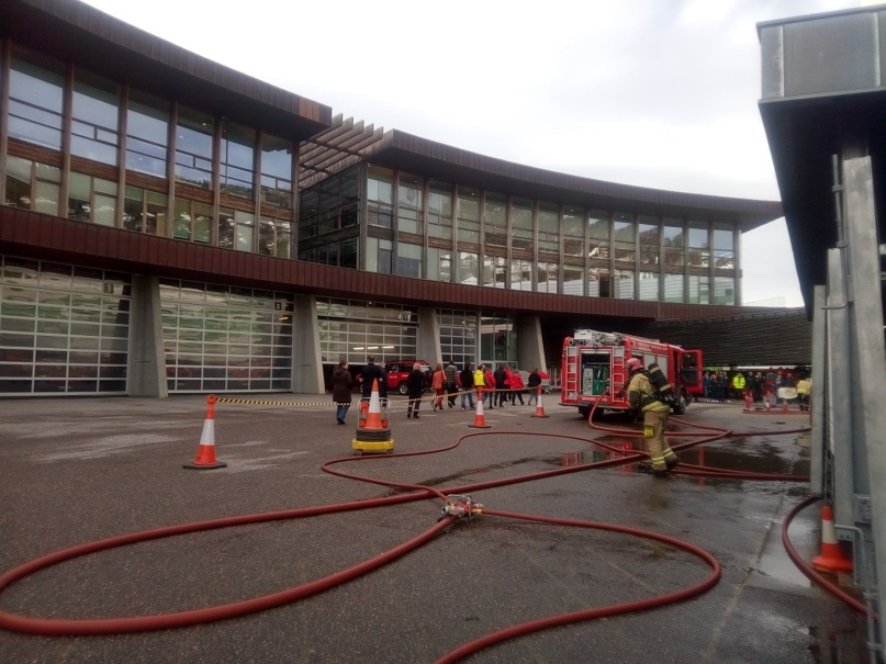 На центральной станции пожарной охраны Бергена