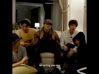 never forget when jimin said lets hug namjoon really went lets try