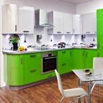 Кухня Акрил Adelkrise Brilliantlinie с закругленными фасадами
