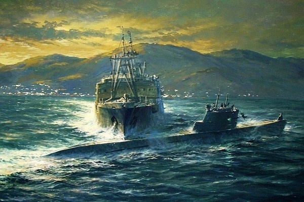 Картина А.Н. Лубянова «Таран в заливе Петра Великого»