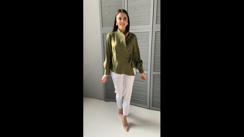 Блуза Идеальная асимметрия (олива)