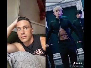 COLTON HAYNES REACTED TO THAT WONHO EDIT ON TIKTOK ARE YOU KIDDING MEEEE OH MY GOD THE OLD ASS TEEN WOLF FAN IN ME IS LITERALLY