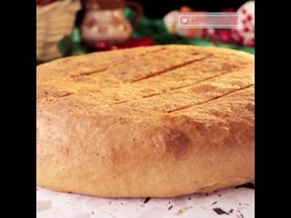 Пикантный пирог с сыром и зеленью